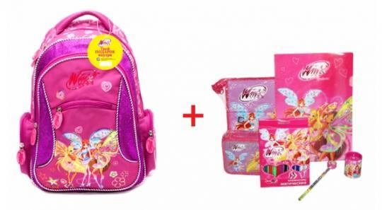 Рюкзак школьный Winx Beleivex + подарок, 30*41см