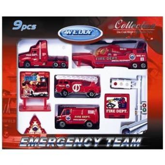 Игровой набор Служба спасения - пожарная команда  9 шт.