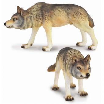 Фигурка Волк охотящийся, 10 см
