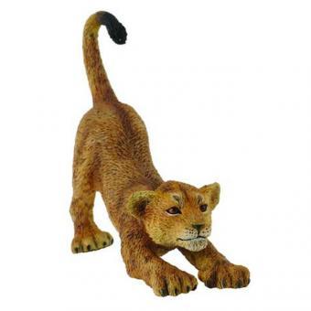 Фигурка Львенок потягивающийся, 6,5 см