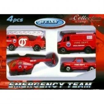 Игровой набор Служба спасения - пожарная команда  4 шт.