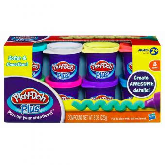 Play Doh Набор из 8 банок Play-Doh PLUS
