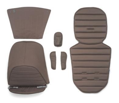 Цветная вставка в коляску Britax AFFINITY (капюшон, накладка на сиденье, вставка в корзину для покупок) коричневый Fossil Brown
