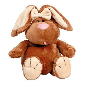 Кролик коричневый сидячий, 23 см
