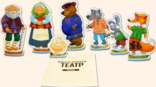 Кукольный театр на столе Колобок