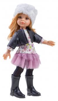 Кукла Даша, в джинсовой куртке 32 см