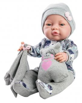 Кукла Бэби с одеяльцем и подушкой-медвежонок, 45 см