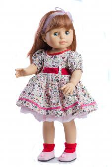 Кукла Soy Tu Бекка в розовом платье в цветочек, 40 см