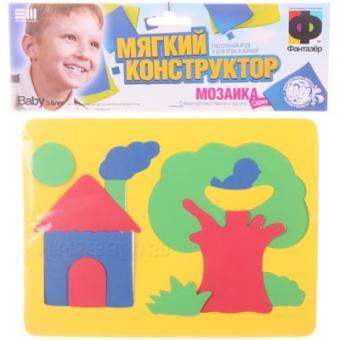 Мягкий конструктор мозаика Домик