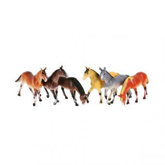 Набор из 6-и лошадей по 15см