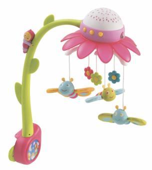 Мобиль-проектор музыкальный Cotoons Цветок, розовый