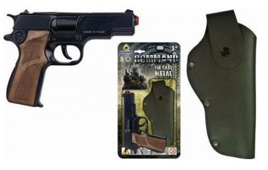Полицейский пистолет 8 пистонов+кобура