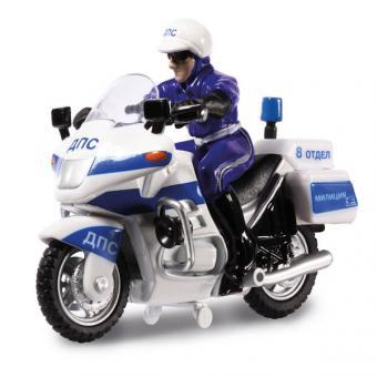 мотоцикл ДПС металл. инерц., с полицейским
