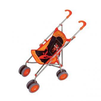 Коляска-трость для куклы  (оранжевая) со светящимся логотипом пчелка