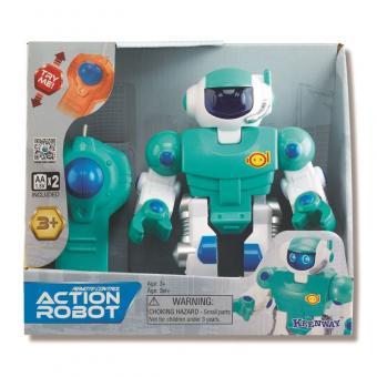 Робот синий  + пульт управления : свет , движется