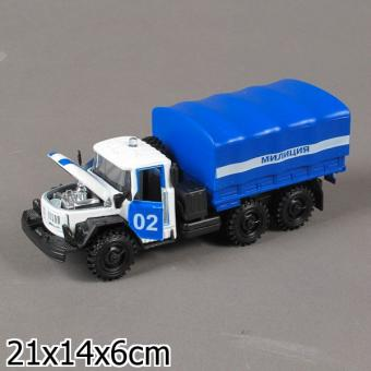 машина металлическая инерционная ЗИЛ 131 милиция/полиция, со светом и звуком