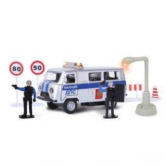 машина металлическая милиция/полиция дежурная часть со светом и звуком,