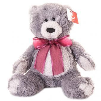 Мягкая игрушка серый Медведь, 20 см