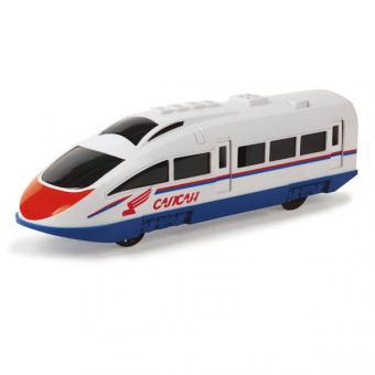 скоростной поезд Сапсан ржд  пластик. инерц.  со светом и звуком 23см