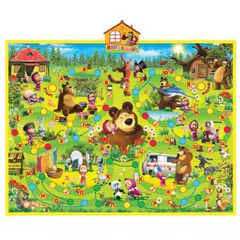"""интерактивный обучающий плакат  """"азбука маши"""" """"Маша и медведь"""" 10 функц"""