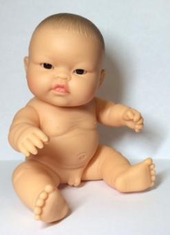 Кукла-пупс без одежды, мальчик азиат, 22 см