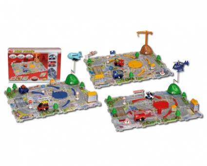 Игровой набор: машинки+трасса-пазлы+ аксессуары, 3 вида