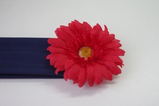 Повязка на голову с цветком (гербер)