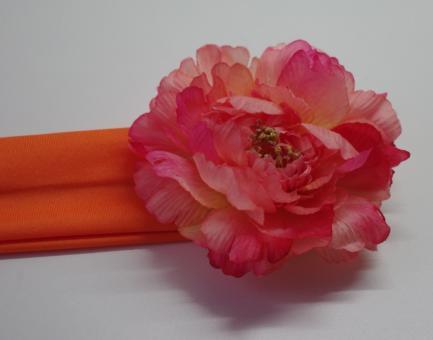 Повязка на голову с цветком (пион)