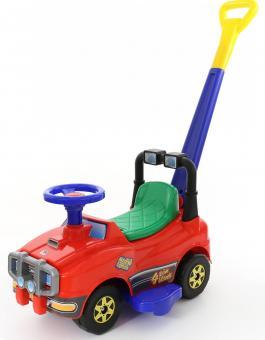 Автомобиль Джип-каталка с ручкой, красный