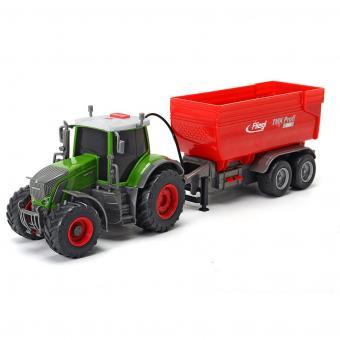 Трактор Fendt с прицепом, 41 см, свет звук
