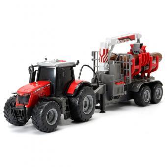 Трактор Massey с прицепом, 41 см, со светом и звуком