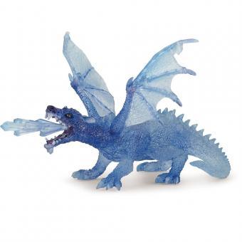 Фигурка Дракон прозрачный, голубой, 17,5 см