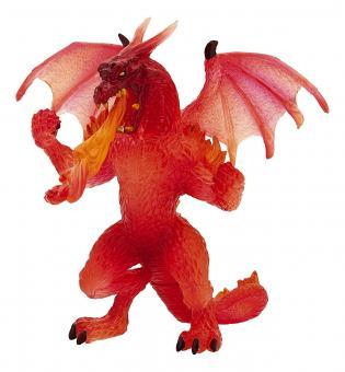 Фигурка Дракон прозрачный, огненный, 13 см