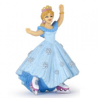 Фигурка Принцесса в голубом на коньках, 10 см