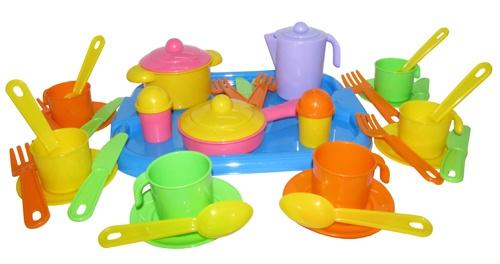 Набор посуды Настенька с подносом на 6 персон