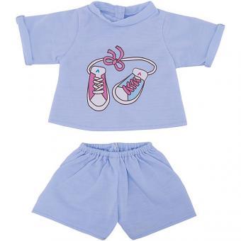 Одежда для куклы Футболка и шортики 38-43 см