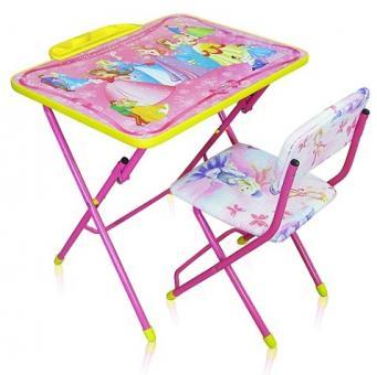 Комплект КУ1/17 Маленькая принцесса. Стол+стул мягкий, розовый