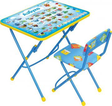 Комплект КУ1/9/КП1 Азбука Стол+стул мягкий синий