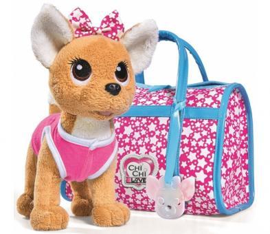 Chi-Chi Love плюшевая собачка Звездный стиль с сумочкой