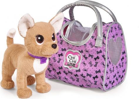 Chi-Chi Love плюшевая собачка Путешественница с сумкой-переноской