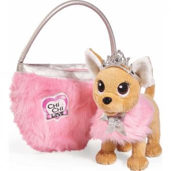 Chi-Chi Love плюшевая собачка Принцесса с пушистой сумочкой