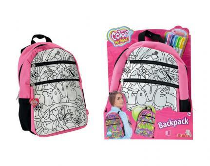 Color Me Mine Рюкзак, 5 перманентных маркеров, размер 27х34 см