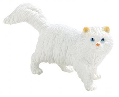 Фигурка Персидская кошка белая, 8 см