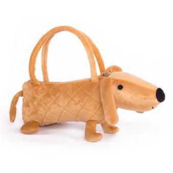 Мягкая игрушка Собачка-сумочка коричневая, 35 см