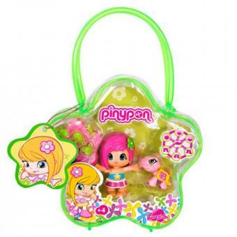 Набор: Cумочка + 1 кукла Пинипон + 1 питомец Зеленая сумочка