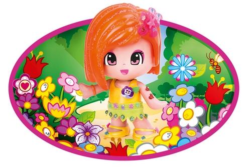 Кукла Пинипон 16 см c аксесcуарами для макияжа рыжие волосы