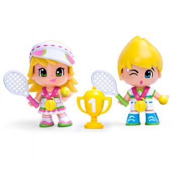 Набор: 2 куклы Пинипон Чемпионы + аксессуары теннис
