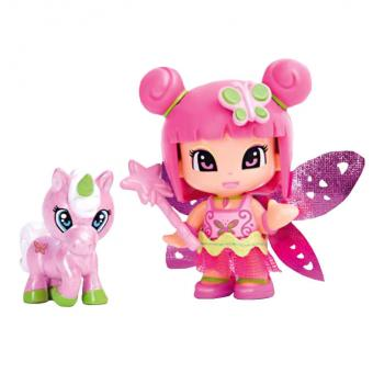 Кукла Пинипон Фея с фигуркой единорога розовая фея