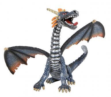 Фигурка Дракон серебристый, 12 см