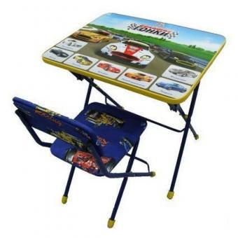 Комплект КУ1/15 Большие гонки Стол+стул мягкий синий